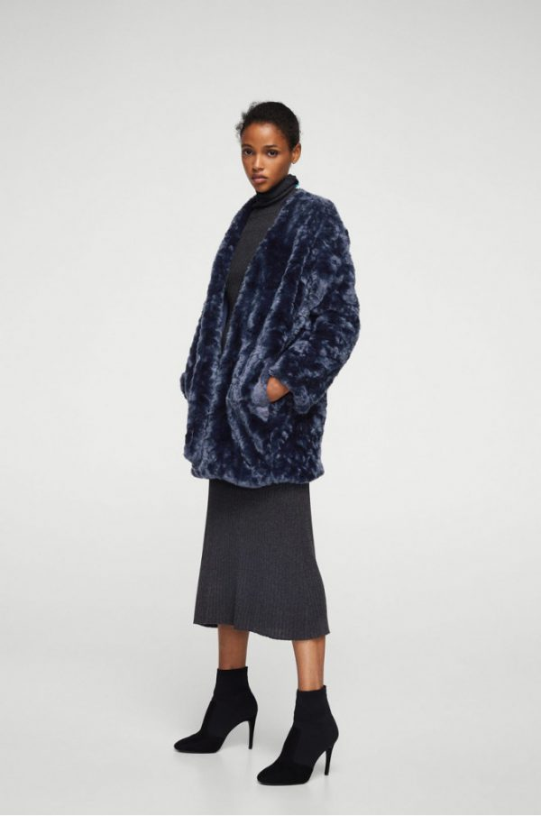 palton din blana ecologica