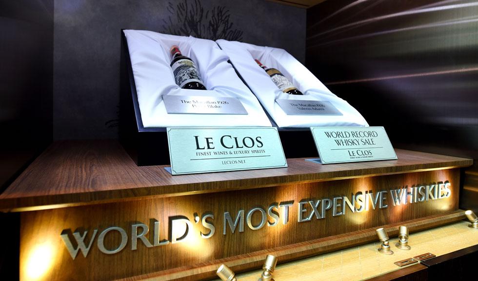 (P) Le Clos stabilește un nou record mondial în vânzările de whisky cu suma de 1,2 milioane de dolari pentru The Macallan 1926