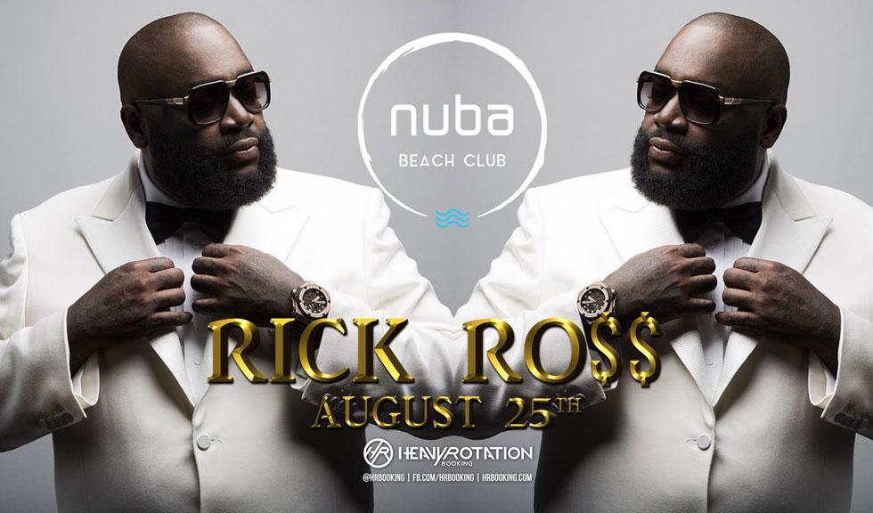 (P) Rick Ross vine cu Lamborghini-ul direct pe șcena NUBA Beach Club