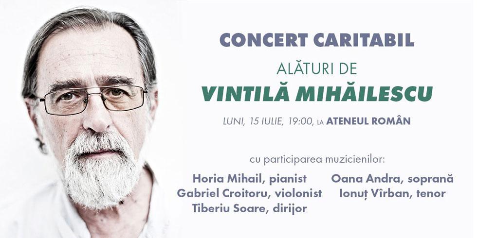 Alături de antropologul Vintilă Mihăilescu – concert caritabil la Ateneul Român