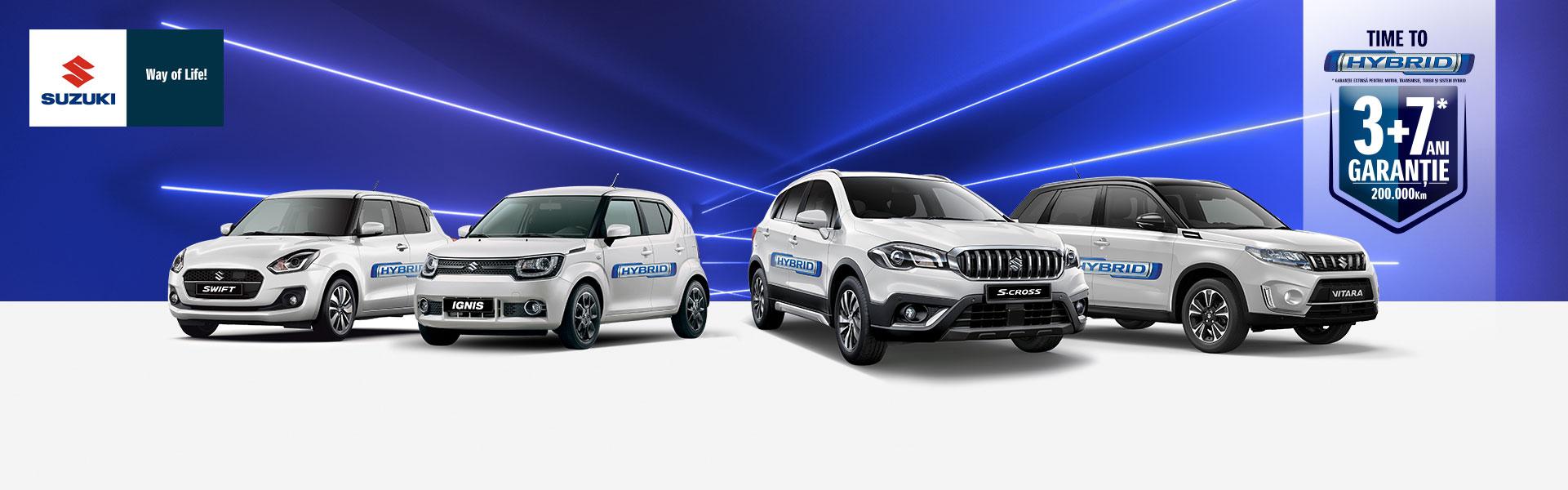 (P) Suzuki își extinde gama de modele hibrid si devine primul producator care comercializeaza doar modele hibrid 12V si 48V. Time to Hybrid!